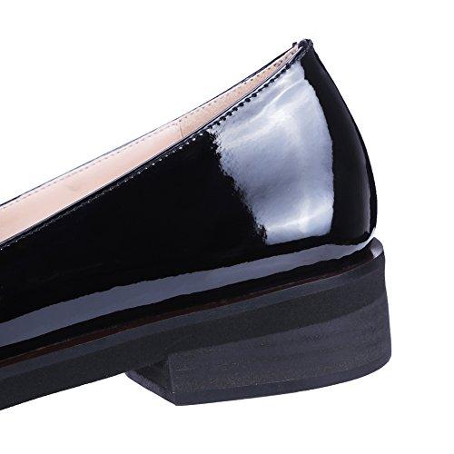 Minivog Low Blocked Heel Zapatos De Mujer De Estilo Casual Para Mujeres De Color Negro Black