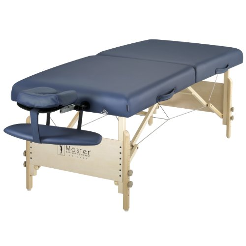 "Master Massage 30"" Coronado Portable Massage Table Package, Royal Blue"