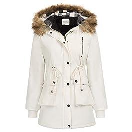 GRACE KARIN Womens Hooded Fleece Line Coats Parkas Faux Fur Jackets with Pockets 3