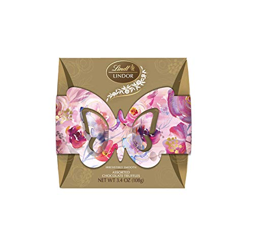 Lindt Easter Spring Gift Box of Egg Shaped Chocolate Truffles, 3.4 0z, 8 Count