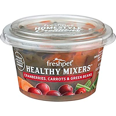 Fresh Pet, Dog Food Healthy Mixers Cranberry Carrots Green, 4.5 Ounce