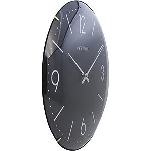 "NeXtime Reloj de pared ""BASIC DOME"", muy silencioso, redondo, negro, ø 35 cm 6"
