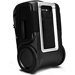 "G-RO 22"" International Smart Carry-On Luggage: Tough Terrain Wheels, Dual USB Ports, Luggage Tracker, Adjustable Handle, Expandable, TSA-Approved"