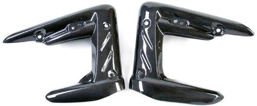 Bestem CBTR-STREET-RDC Black Carbon Fiber Radiator Covers for Triumph Street Triple 2011 - 2012 ()