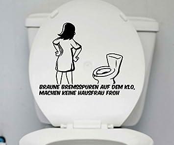 Wc Deckel Aufkleber Hausfrau Klo Toiletten Lustig Spruch Badezimmer