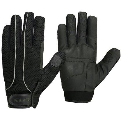 Men's Breathable Reflective Full Finger Motorcycle Gloves (Medium, RSG-4-Black)