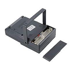 MF-47T Analog Multimeter DC/AC Voltage Current Meter Infrared Detection Handheld hFE Tester Multitester Buzzer Alarm(Silver)