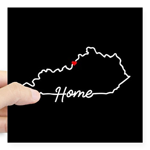 CafePress - Kentucky Home Louisville Square Sticker 3