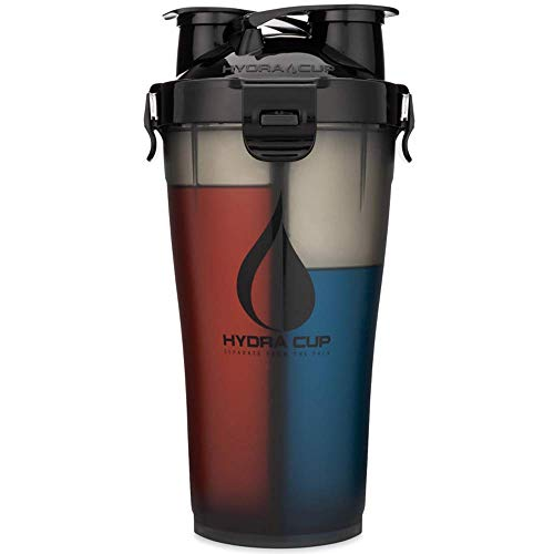 Hydra Cup - 30oz Dual Threat Shaker Bottle, Shaker Cup + Water Bottle, 2 in 1, Leak Proof, Awesome Colors, Save Time & Be Prepared, Triple Black