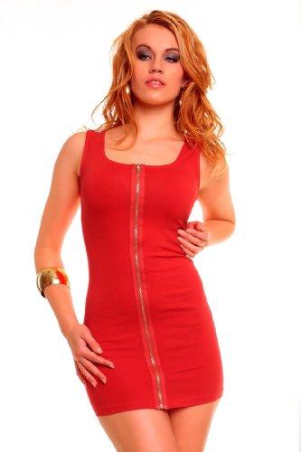 """Waooh - Mode - Kleid """"Louna"""" mit Reißverschluss - rot"""
