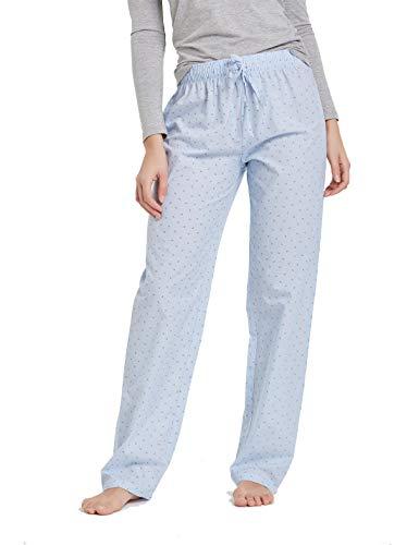 (CYZ Women's 100% Cotton Woven Sleep Pajama Pants-BlueStripe-S)