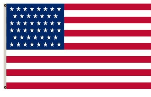 Moon 3x5 USA American Historical 46 Star USA Flag 3x5 Banner Grommets 46 Stars USA Best Garden Outdor Decor Polyester Material Flag Premium Vivid Color and UV Fade Resistant