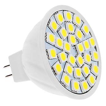 Luces Bombillas, Bombillas Led, 5W GU5.3 (MR16) LED MR16 30 SMD 5050 420 lm blanco natural de 12 V DC: Amazon.es: Hogar