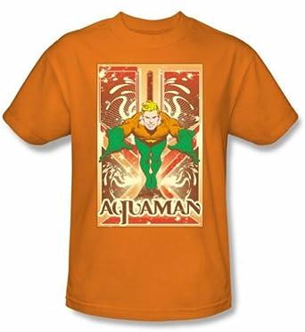 aquaman t shirt dc comics aquaman adult. Black Bedroom Furniture Sets. Home Design Ideas