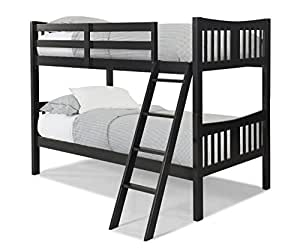 Storkcraft caribou solid hardwood twin bunk for Stork craft caribou bunk bed