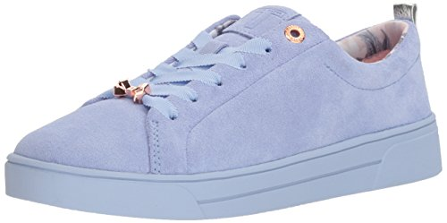 Ted Baker Women's Kellei Sneaker, Light Blue Suede, 6.5 Medium US