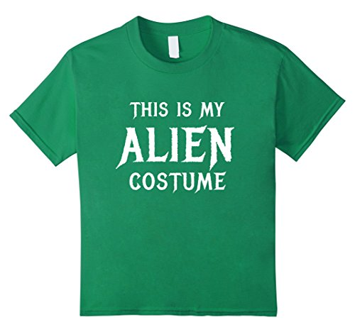 Kids Alien Costume Halloween Shirt Cute Funny UFO Gift 10 Kelly Green (Cute Girl Alien Halloween Costumes)