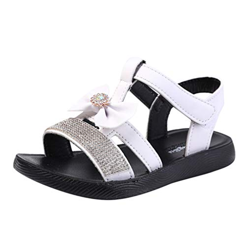 Price comparison product image ONLY TOP Infant Baby Girls Sandals Rubber Soft Sole Summer Sweet Princess Dress Bowknot First Walker Shoes White