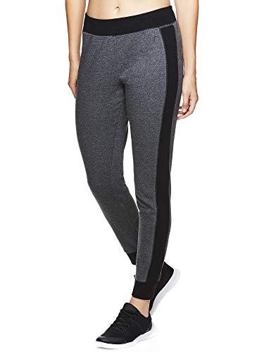 HEAD Women's Jogger Running Pants - Mid Rise Waist Jogging Yoga & Workout Sweatpants - Slim Charcoal Heather, Small