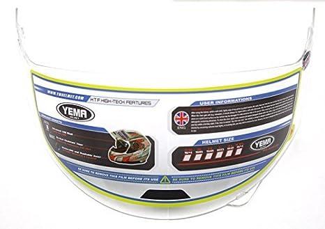 White, XL YEMA Helmet Unisex-Adult Motorcycle Racing Modular YM-925 DOT Street Helmet