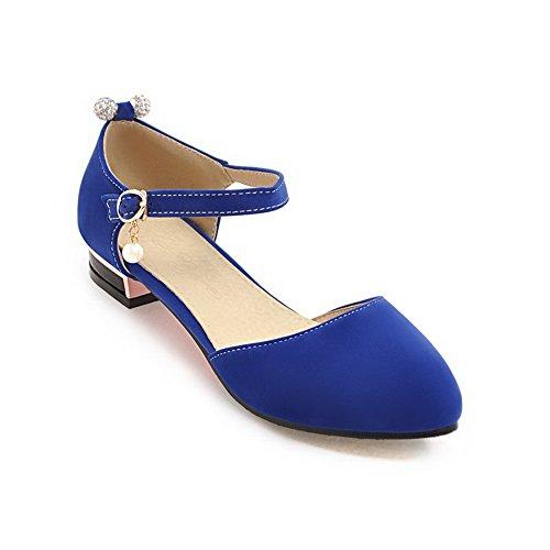 BalaMasa Womens Solid Huarache Nubuck Urethane Sandals ASL04889 Blue gsobhy