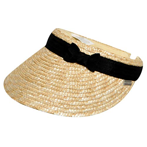 (Betmar Women's Dunewood Visor Natural/Black One Size)
