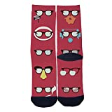 TheFun-Z Custom Eyeglasses Art Socks Novelty Funny Cartoon Crew Socks Elite Casual Socks Black