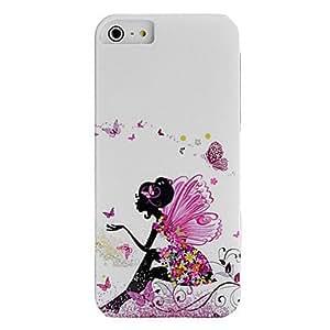 HP-IMD muchachas de la manera técnica y el patrón de flores caja plástica para el iPhone 5/5S