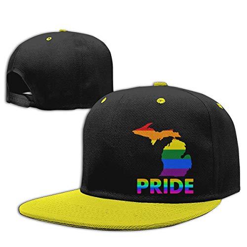 Adgjhbvn Unisex Toddler Girls Baseball Cap State of Michigan LGBT ...