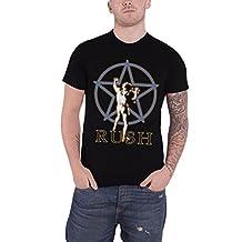 Rush T Shirt Original Star Man 2112 Classic Band Logo Official Mens New Black