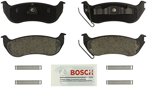 Bosch BE964H Blue Disc Brake Pad Set with Hardware for Select Ford, Jeep, and Mercury SUV's - REAR