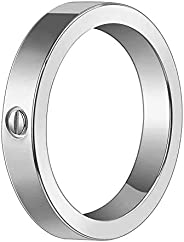 Hosjeojdre Fashion Rings 18K Titanium Steel Rings Design Couple Wedding Band Best Gifts for Love with Valentin