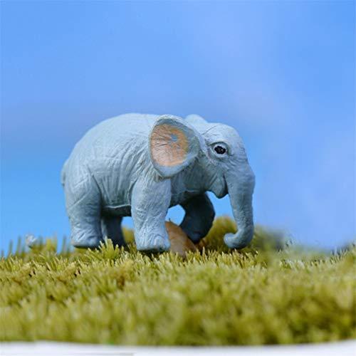 Mini Simulation Elephant Ornament DIY Micro Landscape Accessory Home Decor Ornament LB ()
