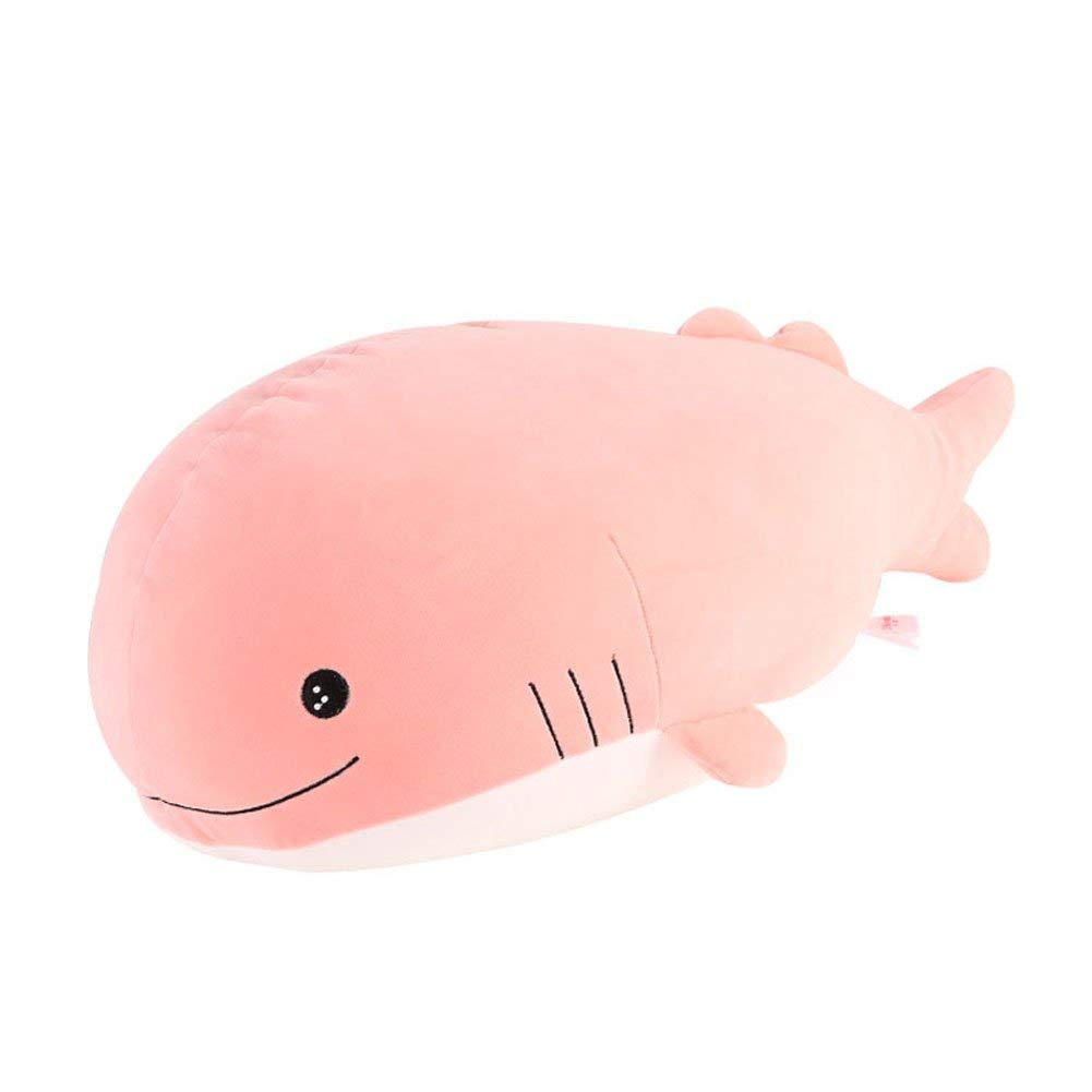 """Molizhi Soft Whale Shark Stuffed Animal, Big Hugging Plush Pillow Doll Fish Toy, Gifts for Girls, Friends, Kids, 13.8"""" (Pink)"""