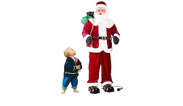 Infactory - Figura electrónica de Papá Noel (150 cm, canta y baila, con función de karaoke): Amazon.es: Hogar