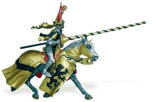 Knights  Horse With Gold Robe And Black Lion  Os