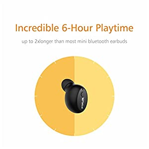 FOCUSPOWER F10 Mini Bluetooth Earbud Smallest Wireless Invisible Headphone with 6 Hour Playtime Car Headset with Mic for iPhone and Android Smart Phones(One Pcs)