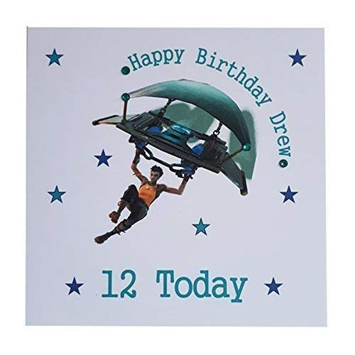 Personalised Fortnite Happy Birthday Greeting Card Age Name Amazoncouk Handmade