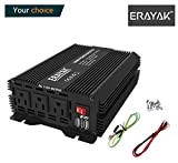 ERAYAK 1000W Power Inverter DC 12V to 110V 3 AC Outlets with 3.1A Dual USB Ports Modified Sine Wave Converter for Home/Office/Car/Travel