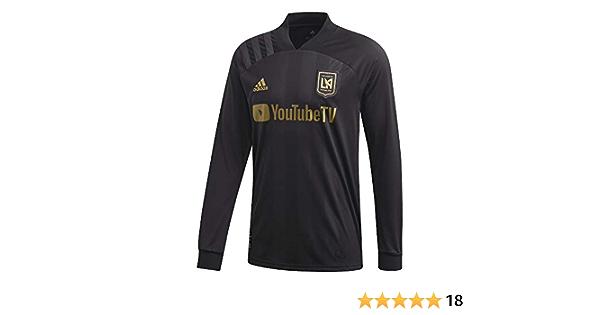 Amazon.com: adidas Los Angeles FC Home Long Sleeve Soccer Jersey ...