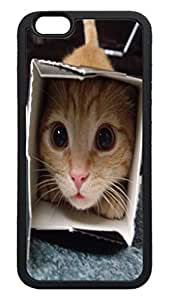 Generic Funny Cat Back Case for Apple Iphone 6 4.7 Inch TPU Black Bumper