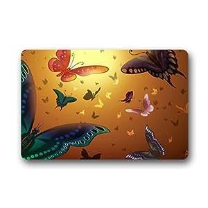 """Custom Flying color butterfly Doormat Outdoor Indoor 23.6""""x15.7"""" about 59.9cmx39.8cm"""
