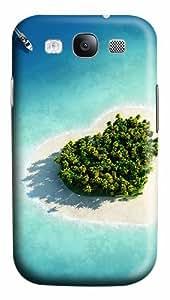 Heart Shaped Herzen Island Maldives Custom Polycarbonate Plastics Case for Samsung Galaxy S3 / S III/ I9300