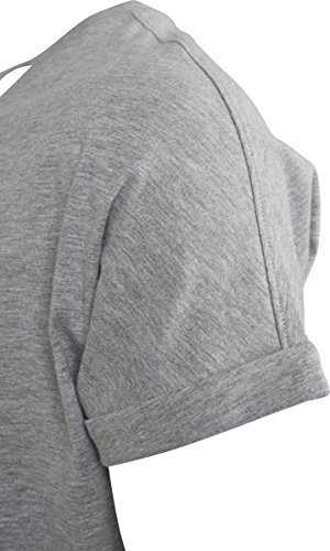 Turnup Long grey Tee Classics 00111 T Uomo Shaped shirt Urban Grigio P6q4xWtnOz