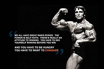 Charming Arnold Schwarzenegger Motivational Quote Poster Print (12 Inch X 18 Inch,  Rolled)