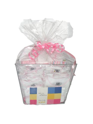 - Noa Lily X-Large Layette Gift Basket, Pink Toile, 6 Months