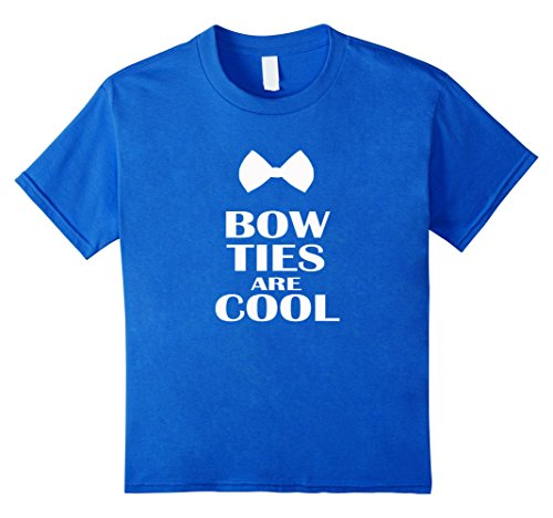 Kids Bow Ties Are Cool T-shirt Sport Coat Science Nerd Gift Tee 10 Royal - Ideas Nerd Up Dress Day