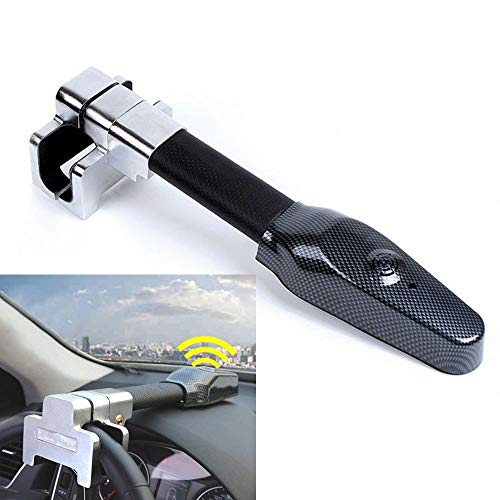 Vechkom Steering Wheel Lock Universal Security Car Anti Theft Safety Alarm Lock Retractable Anti Theft Protection T-Lock