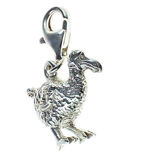 super popolare ddfae b6e3c Amazon.com: Sterling 925 Solid Silver Charm Pendant Dodo ...