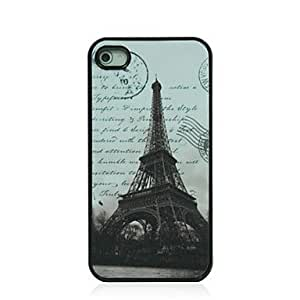 SJT Paris Tower Pattern Dull Polish Hard Case for iPhone 4/4S